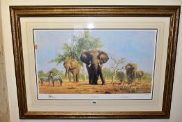 DAVID SHEPHERD (BRITISH 1931-2017) 'AN AFRICAN LANDSCAPE' a limited edition print featuring