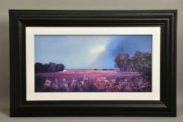 BARRY HILTON (BRITISH 1941) 'SHADES OF DUSK' a limited edition landscape print 99/195, signed with