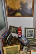 PAINTINGS AND PRINTS etc to include a landscape watercolour by Aubrey Ramus (1895-1950), approximate