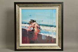 CHRISTIAN HOOK (BRITISH 1971) 'LA CALETA' limited edition print of a small child 13/195, signed with