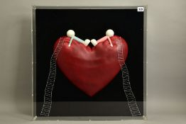 DOUG HYDE (BRITISH 1972) 'HIGH ON LOVE' limited edition sculpture of figures on a love heart 118/