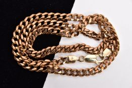 A 9CT GOLD CURB LINK CHAIN, fitted with a lobster claw clasp, hallmarked 9ct gold Birmingham import,