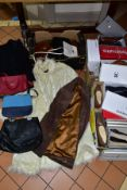 THREE BOXES OF BOXED AND LOOSE LADIES SHOES, BAGS AND COATS, including approximately nineteen