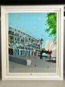 DYLAN IZAAK (BRITISH CONTEMPORARY) 'POMPIDOU CENTER II' the French landmark building, signed