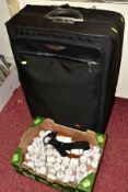 A ZERO HALLIBURTON SUITCASE AND A BOX OF BATTERY OPERATED CANDLES, suitcase is 'as new' with