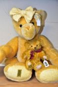 TWO MODERN MERRYTHOUGHT LIMITED EDITION OLIVER HOLMES COLLECTORS BEARS, both fully jointed, the
