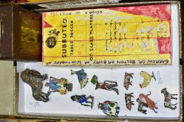 A QUANTITY OF CADBURY COCOCUBS AND OTHER LEAD FIGURES, playworn condition with paint loss and