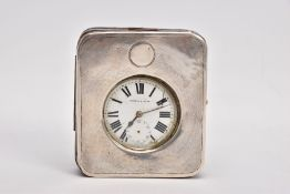 A MAPPIN & WEBB OPEN FACE POCKET WATCH WITH CASE, the pocket watch with a round white dial signed '