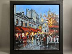 CSILLA ORBAN (HUNGARY 1961) 'SEE YOU IN PARIS' A Parisian street scene, signed bottom right, oil