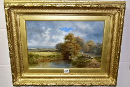 W.B. HENLEY (19TH CENTURY) 'NEAR MADRESFIELD, MALVERNS' a river landscape with female figure on a