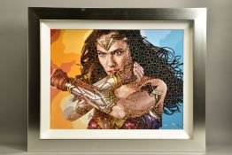 PAUL NORMANSELL (BRITISH 1978) 'THE TIME IS NOW' limited edition print of Gal Gadot as Wonder