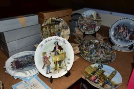 TWENTY FIVE COLLECTORS PLATES, with certificates of authenticity and twenty four boxes by Wedgwood