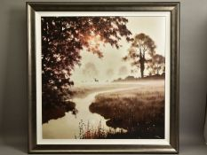 JOHN WATERHOUSE (BRITISH 1967) 'A MOMENT IN TIME', limited edition sepia landscape print 10/195,