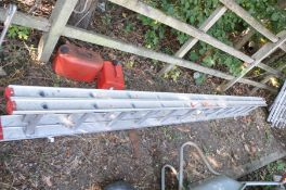 A BRITISH LADDER MANUFATURERS ASSOCIATION set of double extension ladders, 3.5m closed 6.29