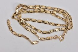 A 9CT GOLD 'S' LINK CHAIN, fitted with a spring clasp, hallmarked 9ct gold Birmingham import, length