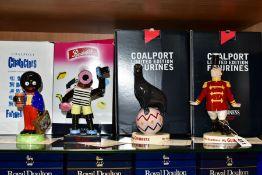 FOUR BOXED LIMITED EDITION COALPORT & MILLENNIUM COLLECTABLES LTD ADVERTISING FIGURES, '