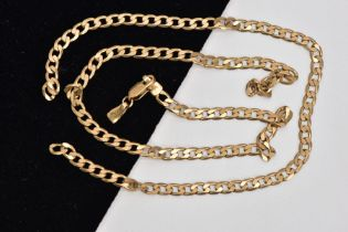 A BROKEN 9CT GOLD CURB LINK CHAIN, hallmarked 9ct gold Sheffield, approximate gross weight 6.6