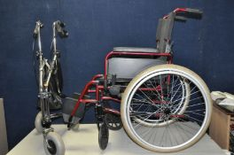 A REMPLOY DASH LITE WHEELCHAIR with footrests and a Days disability Walker (2)
