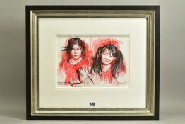 ZINSKY (BRITISH CONTEMPORARY) 'THE WHITE STRIPES', a portrait sketch of the American rock duo,