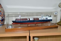 A MODEL OF THE ATLANTIC CONTAINER LINE RORO/CONTAINER SHIP 'ATLANTIC CONVEYOR' (THIRD GENERATION),