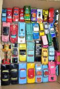 A QUANTITY OF UNBOXED AND ASSORTED PLAYWORN DIECAST VEHICLES, to include Dinky Toys Chevrolet El