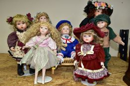 SEVEN COLLECTORS DOLLS, comprising a Leonardo Collection ballerina fairy doll (missing wings?,