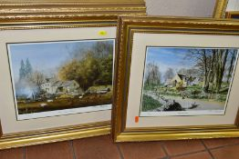 FRAMED DECORATIVE PRINTS, comprising four Alan Ingham signed limited edition prints from the