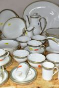 A FORTY SEVEN PIECE ROYAL DOULTON ATHENS H4987 DINNER SERVICE, comprising coffee pot (coffee