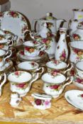FORTY EIGHT PIECES OF ROYAL ALBERT 'OLD COUNTRY ROSES' TEA AND GIFTWARES, comprising tea pot, coffee