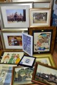 PAINTINGS AND PRINTS, ETC, to include two Helen McKie (1889-1957) watercolour illustrations of
