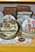 THIRTY THREE COLLECTORS PLATES, subjects include Flower Fairies, horses, flowers, children and pets,