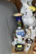 A SMALL GROUP OF 19TH AND 20TH CENTURY COLLECTABLES AND CERAMICS, to include a studio pottery figure