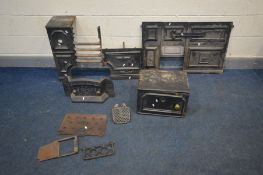 A COALBROOKDALE CAST IRON OVEN, including the frontage and single door oven (condition -