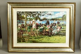 SHERREE VALENTINE DAINES (BRITISH 1959) 'REGATTA MEMORIES', a signed limited edition canvas board
