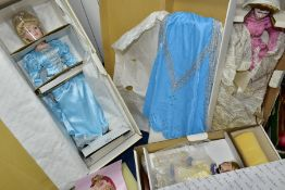 FOUR BOXED COLLECTOR DOLLS, comprising a Danbury Mint 'Cinderella' doll with separate velvet cape,