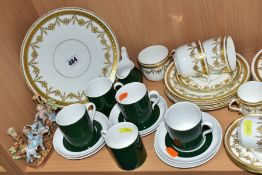 A LATE VICTORIAN MOORE BROS. PART TEA AND COFFEE, SPODE COFFEE WARES, ETC, the Moore Bros set with