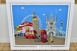 DYLAN IZAAK (BRITISH CONTEMPORARY) 'ROYAL LONDON', a contemporary London scene with British icons