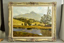 GERALD COULSON (BRITISH 1926-2021) 'LAKE DISTRICT ISOLATION', a Bucolic British river landscape with