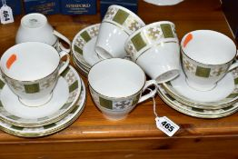EIGHTEEN PIECES OF SPODE 'PERSIA' TEAWARES, comprising six teacups (two cracked), six saucers (one