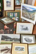 PICTURES AND PRINTS etc to include a Stan Richards pastel fishermans cottage scene, approximate size