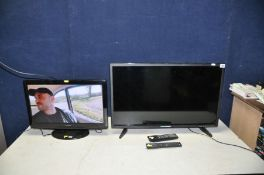 A BLAUPUNKT 32in LED TV with remote, and a Hitachi 22in TV with remote (both PAT pass and working)
