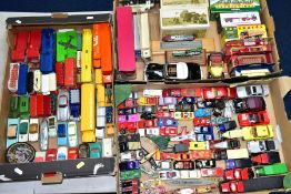A QUANTITY BOXED AND UNBOXED DIECAST VEHICLES, to include a quantity of unboxed playworn items