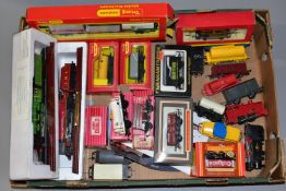 A QUANTITY OF BOXED AND UNBOXED OO/HO GAUGE LOCOMOTIVES AND ROLLING STOCK, locomotives are Tri-