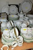 ONE HUNDRED AND EIGHTEEN PIECES OF JOHNSON BROTHERS ETERNAL BEAU TEA/DINNER SERVICE AND
