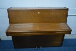 KNIGHT (c1968) A LIGHT WOOD OVERSTUNG UPRIGHT PIANO, serial number 46181, width 140cm x depth 55cm x