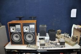 A SELECTION OF VINTAGE AND MODERN AUDIO EQUIPMENT including a CBS Arbiter Valve Amplifier Chassis,