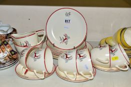THREE 20TH CENTURY TEA AND PART DINNER SETS, comprising an incomplete Crown Devon 'Stockholm'