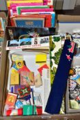 A QUANTITY OF MAPS AND COLLECTABLES, maps include several of the New Popular Editions of local