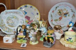 A SMALL COLLECTION OF BEATRIX POTTER CERAMICS AND GIFTWARE, including Beswick 'Miss Moppet' and '