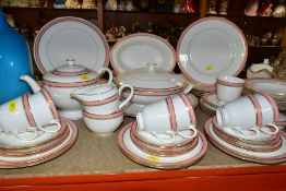 ROYAL WORCESTER HOWARD PART DINNER SERVICE, comprising five dinner plates, one cracked, one chipped,